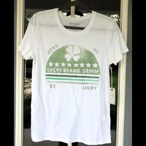 Lucky Brand Be Lucky Tee Shirt. NWT Size S/P
